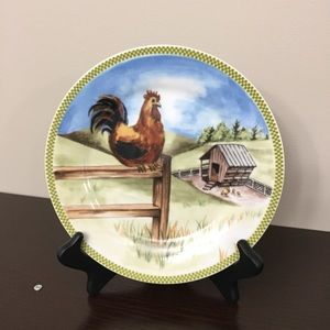 "8"" Vtg. Collectible Rooster Plate"